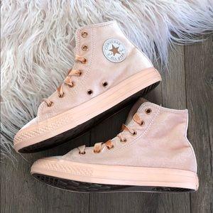 33fb8b7c1b8bf1 Converse Shoes - NWT🍑converse ID peach rose gold high tops